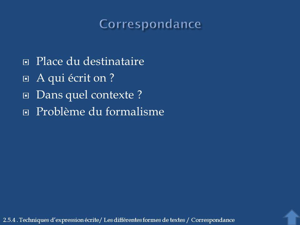 Problème du formalisme