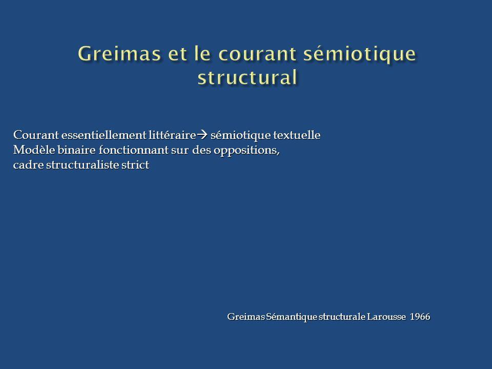 Greimas et le courant sémiotique structural