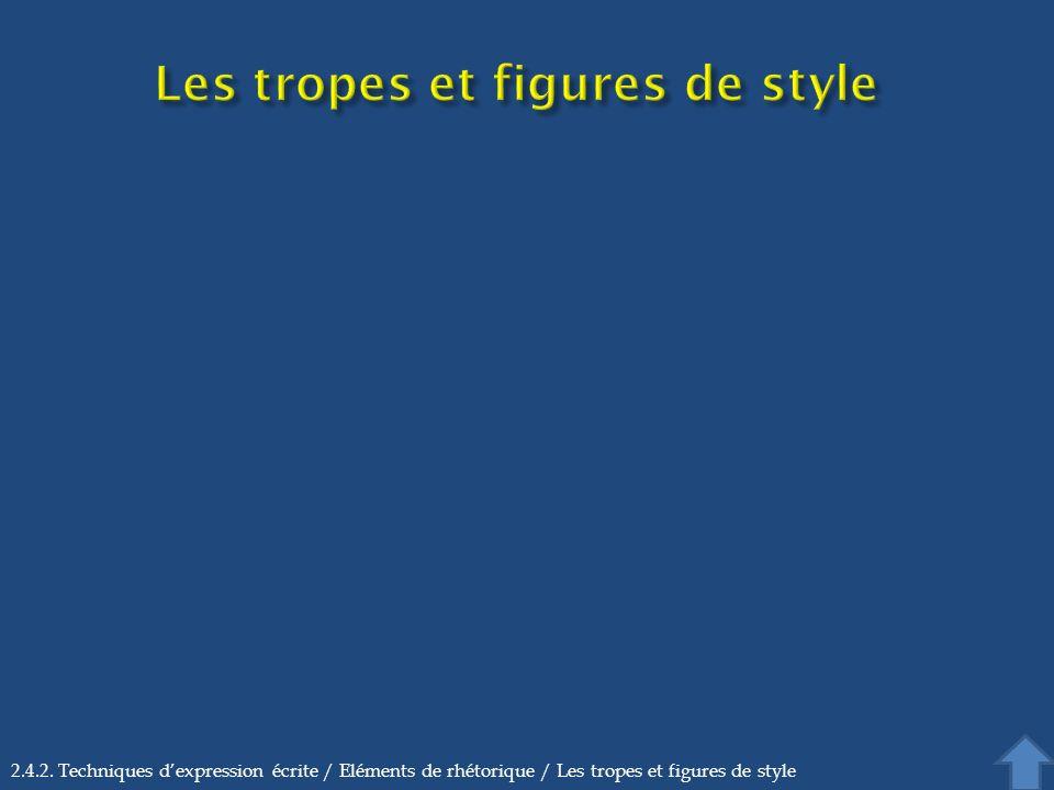 Les tropes et figures de style