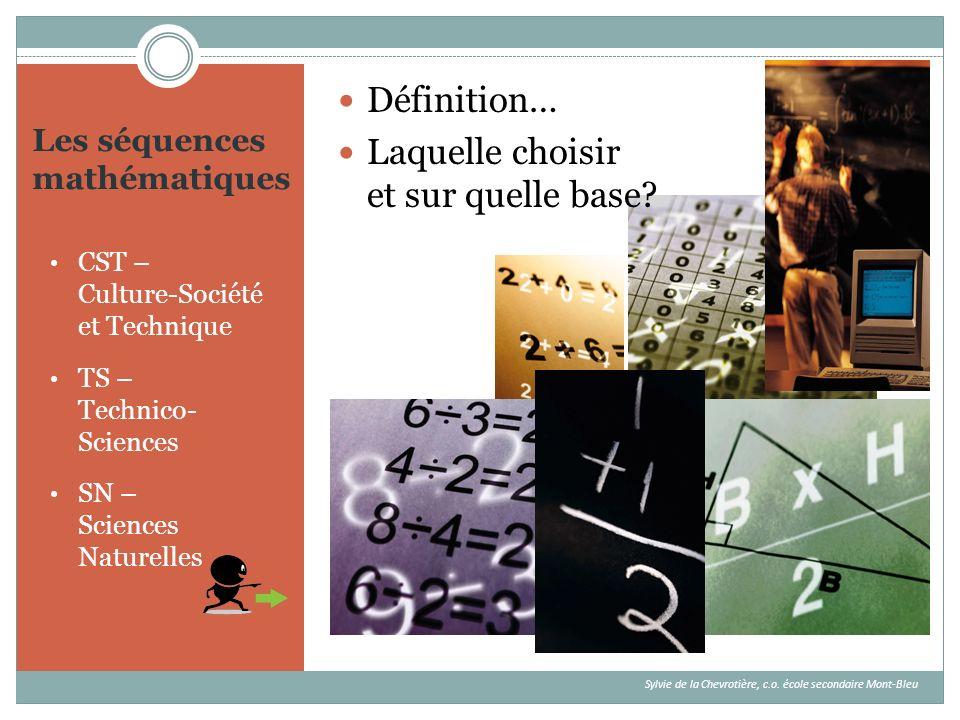 Les séquences mathématiques