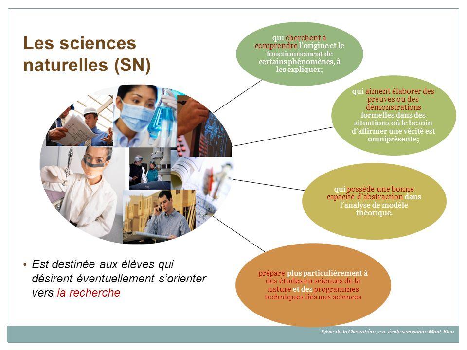 Les sciences naturelles (SN)