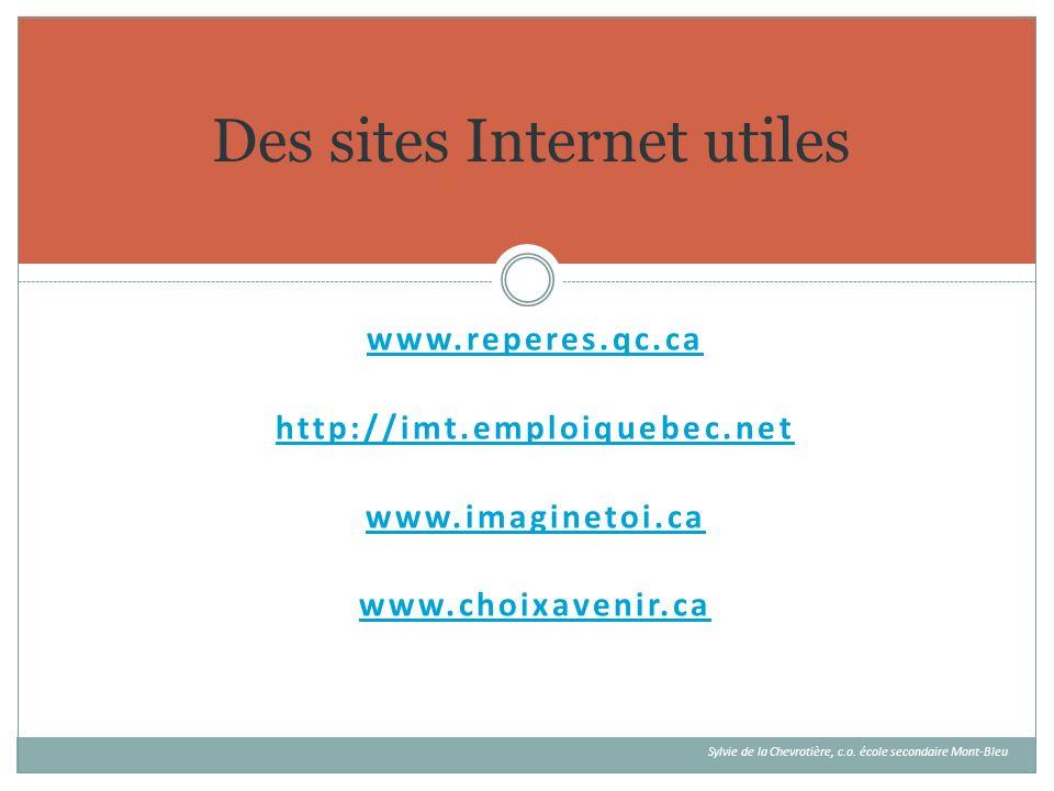 Des sites Internet utiles