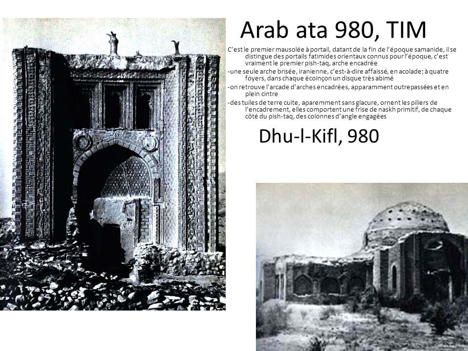 Arab ata 980, TIM Dhu-l-Kifl, 980