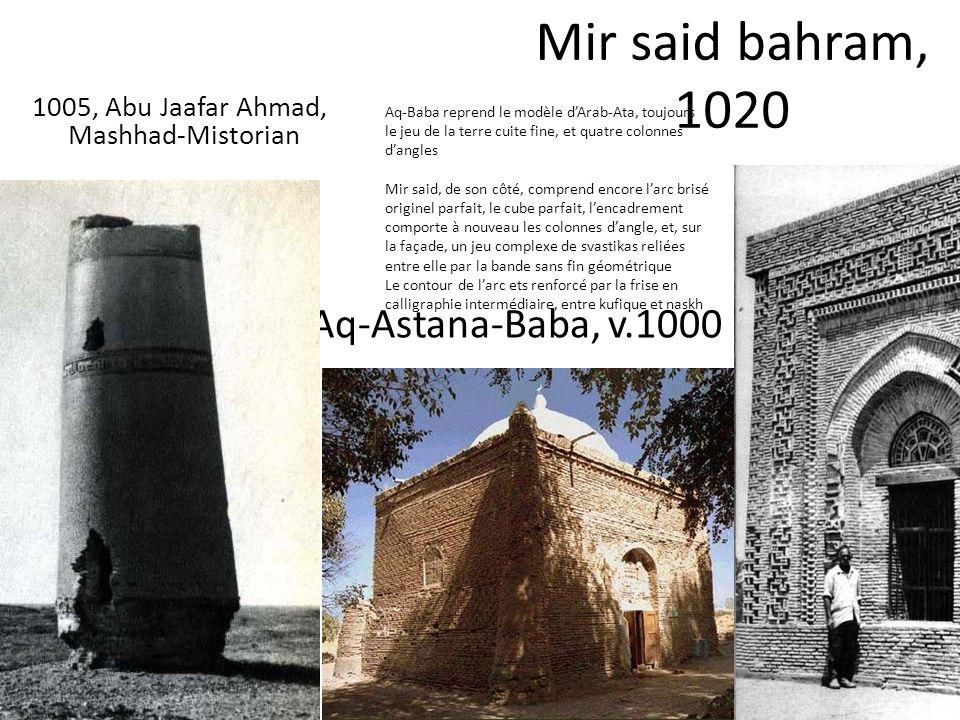 Mir said bahram, 1020 Aq-Astana-Baba, v.1000