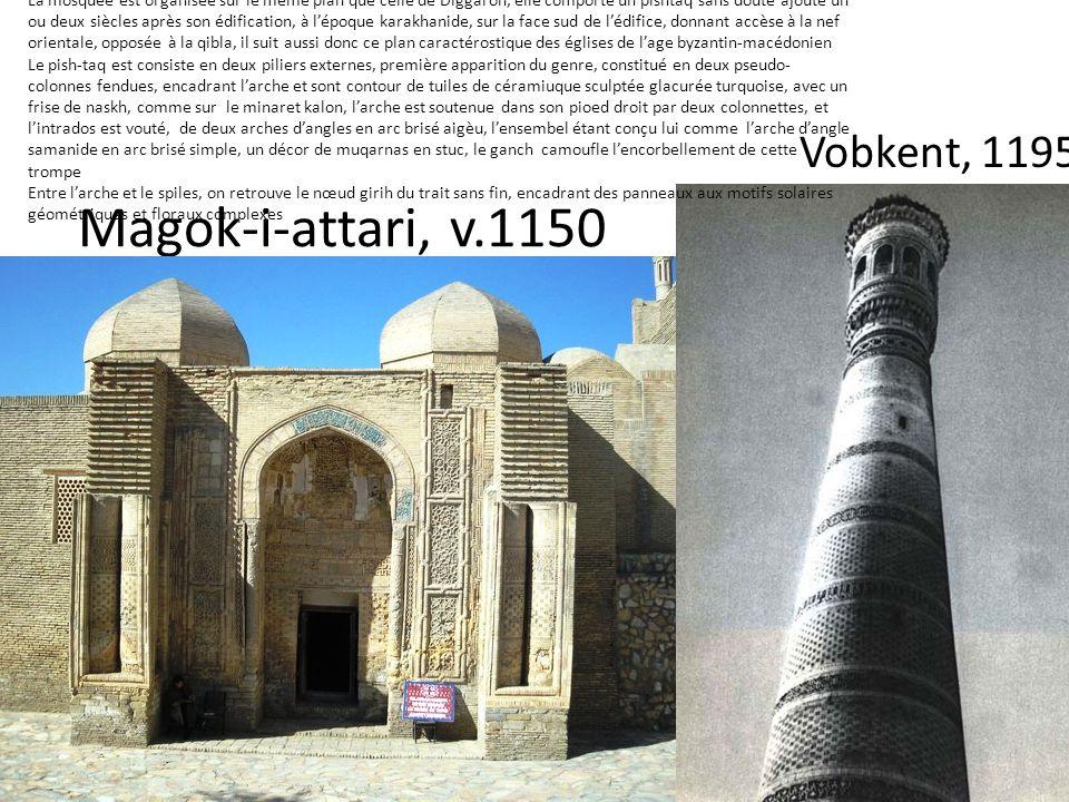 Magok-i-attari, v.1150 Vobkent, 1195