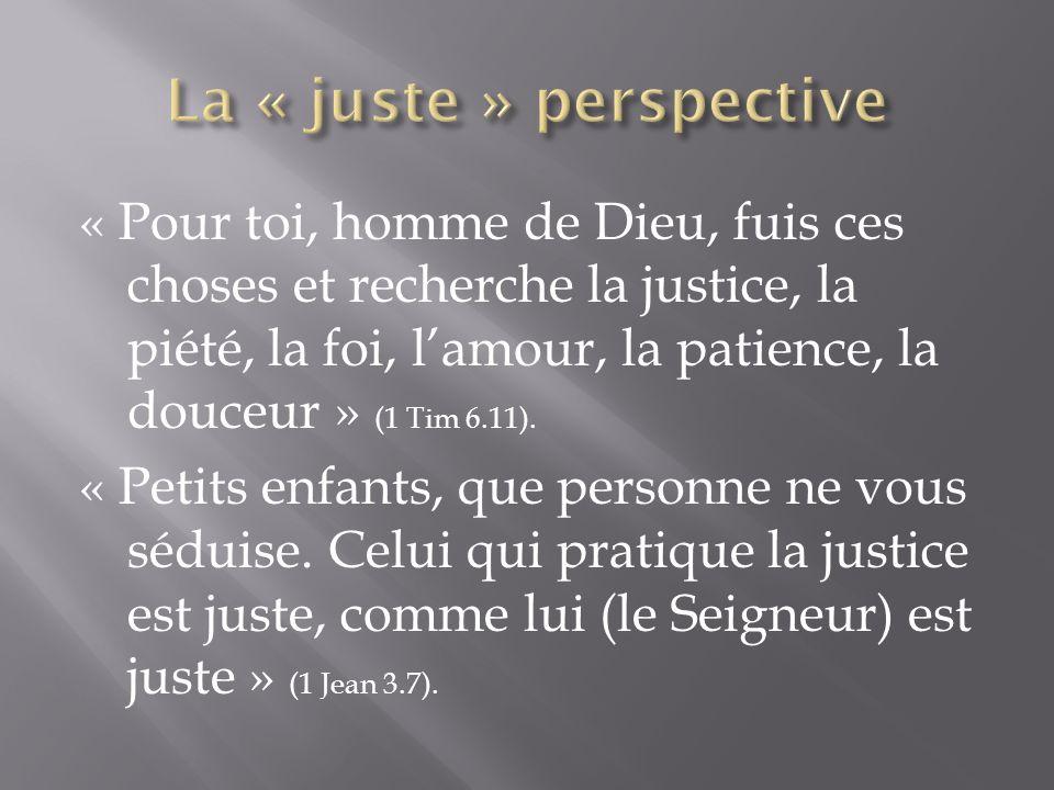 La « juste » perspective