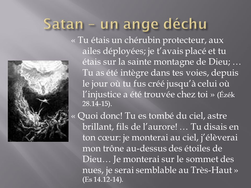 Satan – un ange déchu