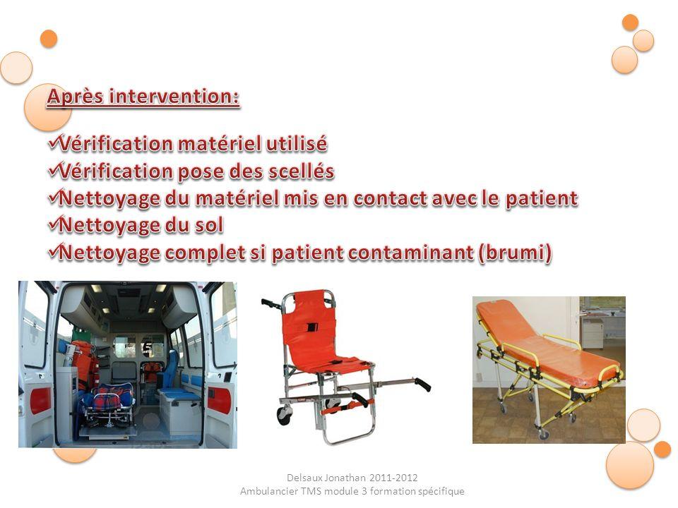 Ambulancier TMS module 3 formation spécifique