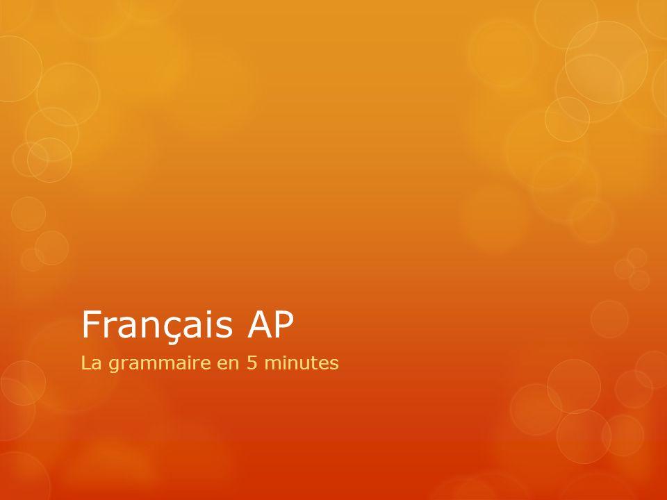 La grammaire en 5 minutes