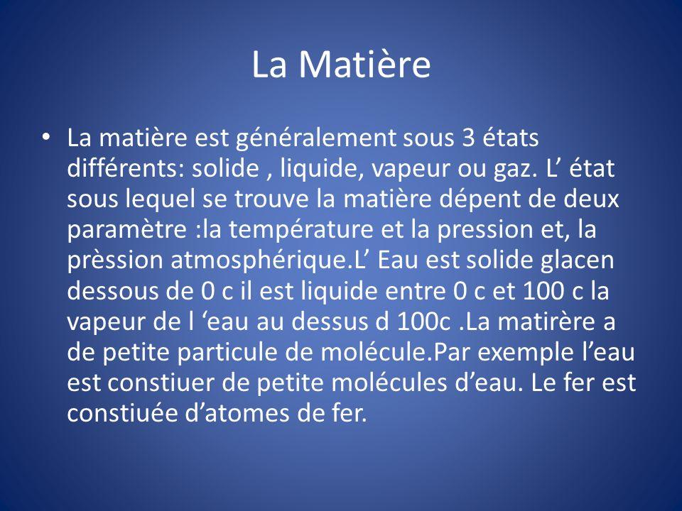 La Matière