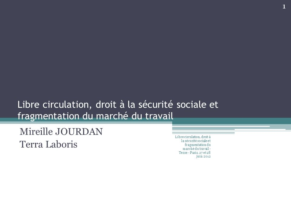 Mireille JOURDAN Terra Laboris