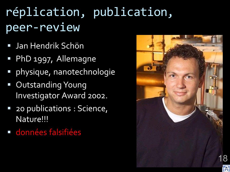 réplication, publication, peer-review