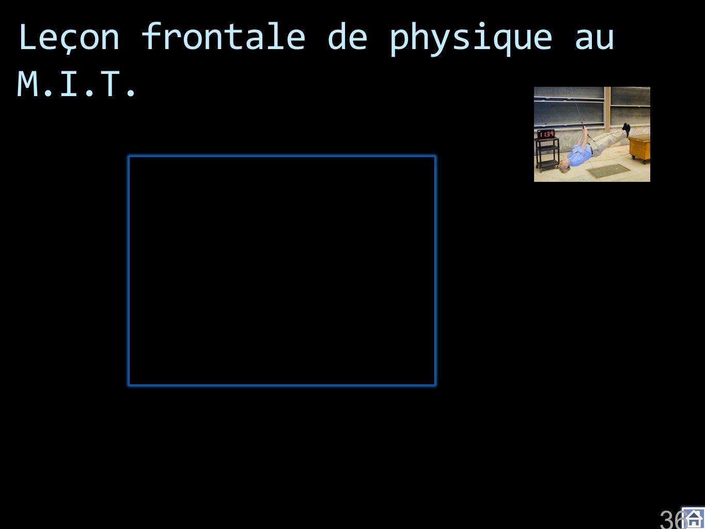 Leçon frontale de physique au M.I.T.
