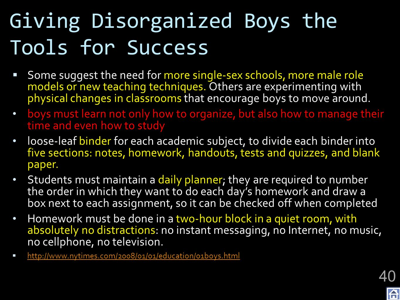 Giving Disorganized Boys the Tools for Success