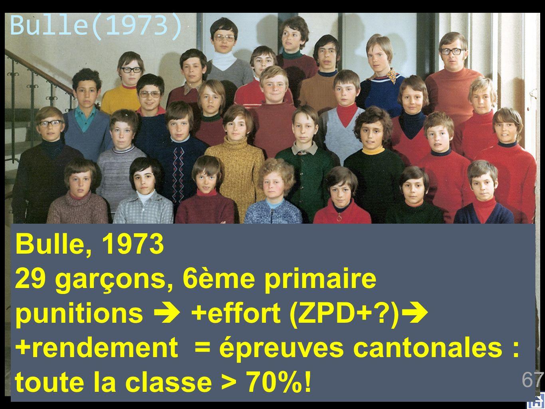 Bulle(1973) impact maximal, sur tous les élèves, tous les moyens sont bons