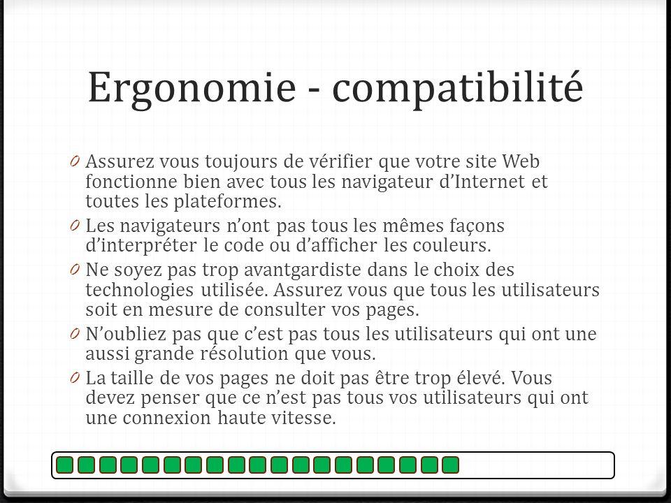 Ergonomie - compatibilité