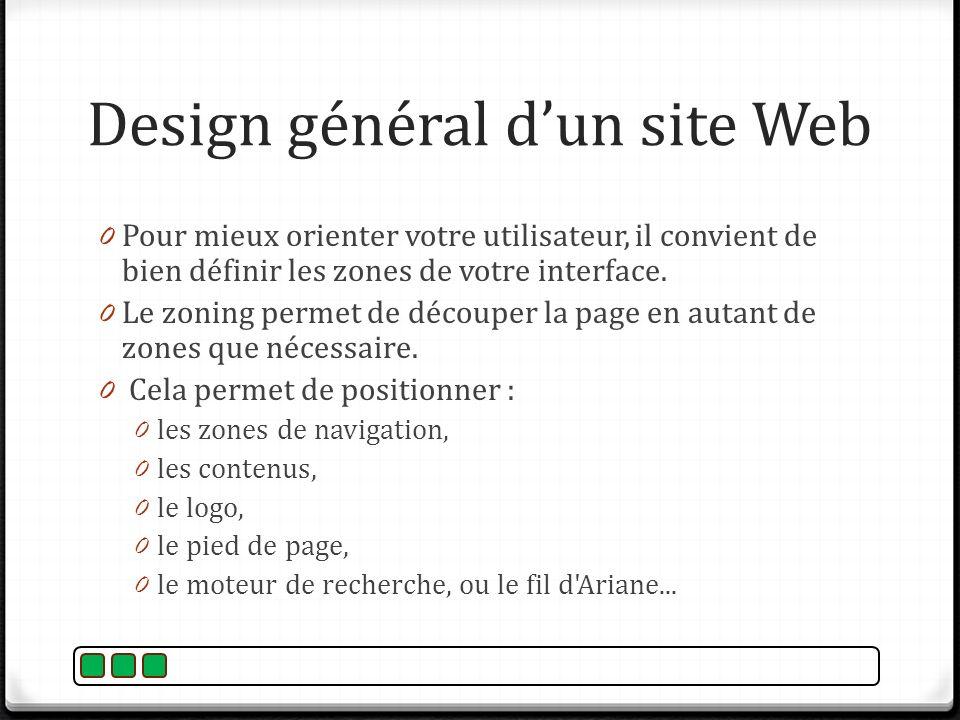Design général d'un site Web