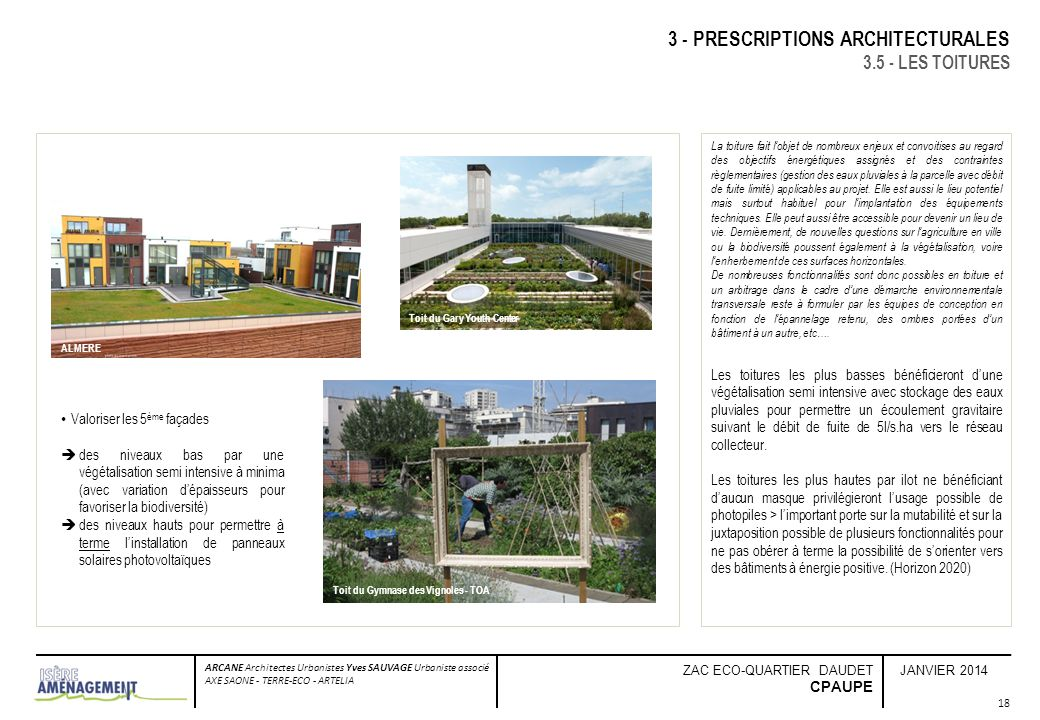 3 - PRESCRIPTIONS ARCHITECTURALES