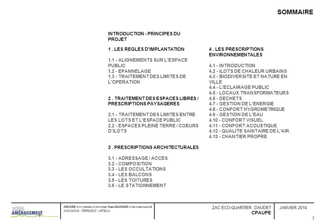 SOMMAIRE INTRODUCTION - PRINCIPES DU PROJET