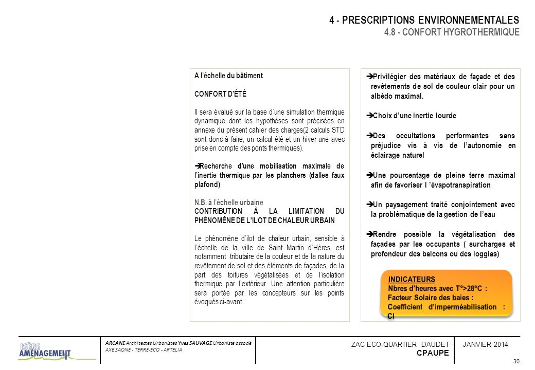 4 - PRESCRIPTIONS ENVIRONNEMENTALES