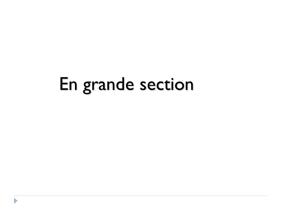 En grande section