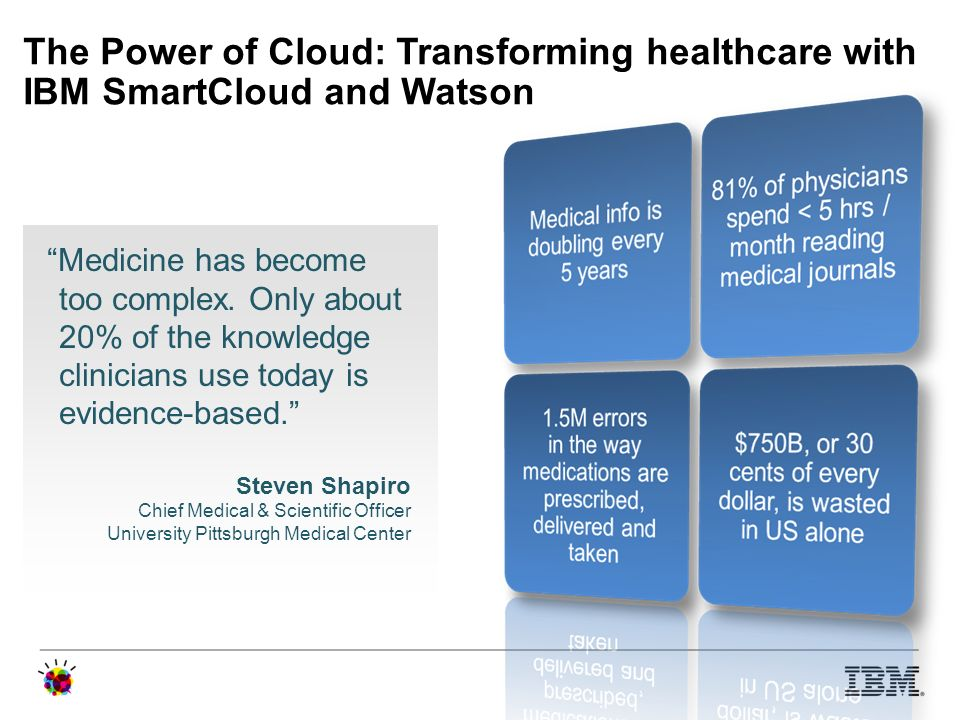The Power of Cloud: Transforming healthcare with IBM SmartCloud and Watson