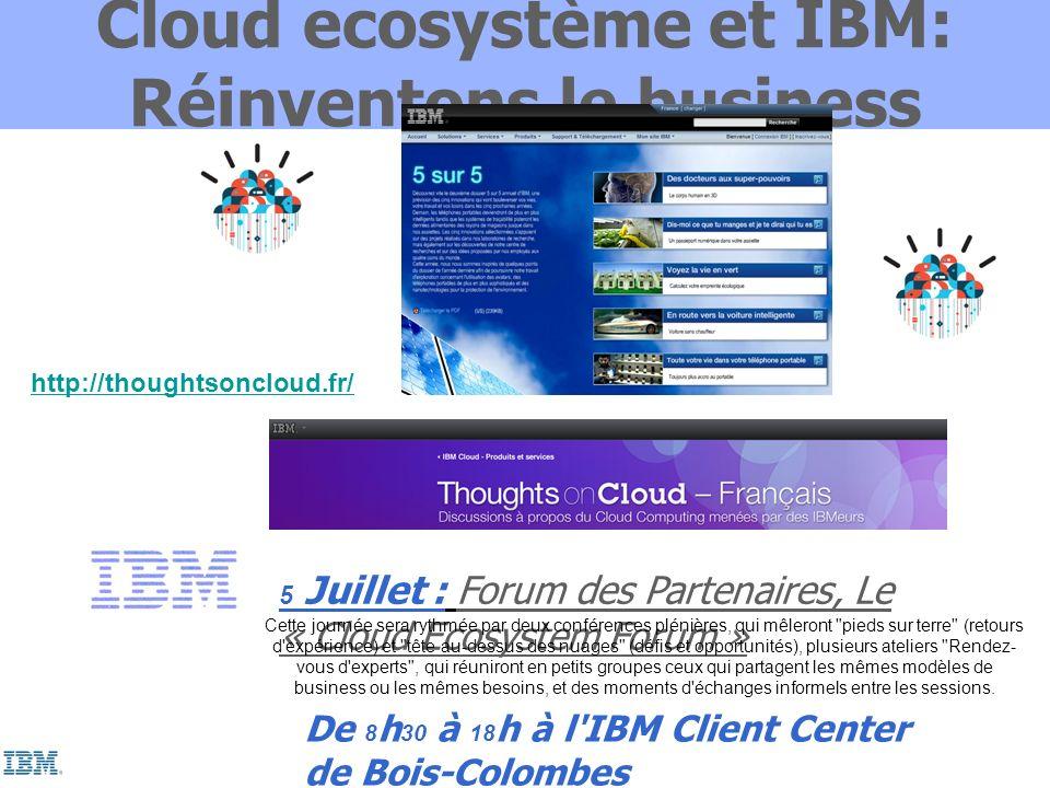 Cloud ecosystème et IBM: Réinventons le business