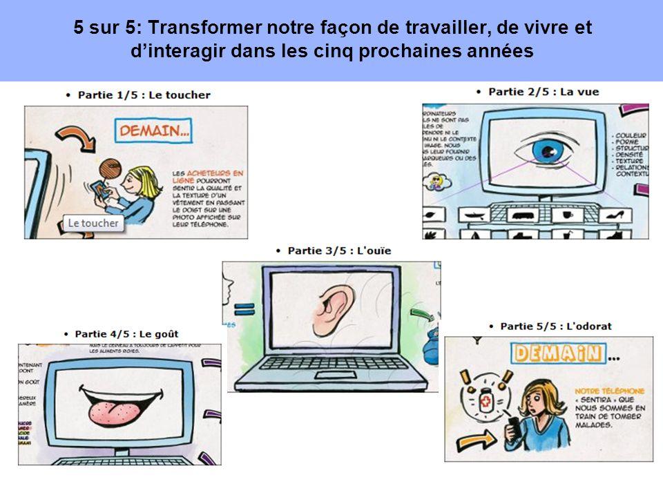5 sur 5: Transformer notre façon de travailler, de vivre et d'interagir dans les cinq prochaines années