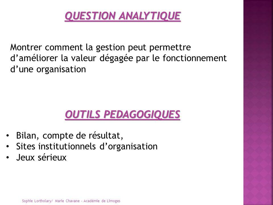 QUESTION ANALYTIQUE OUTILS PEDAGOGIQUES