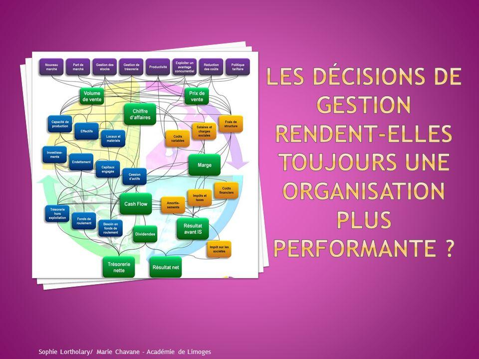 Les décisions de gestion rendent-elles toujours une organisation plus PERFORMANTE