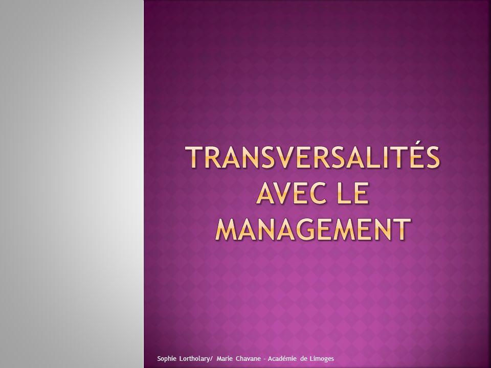 Transversalités avec le management