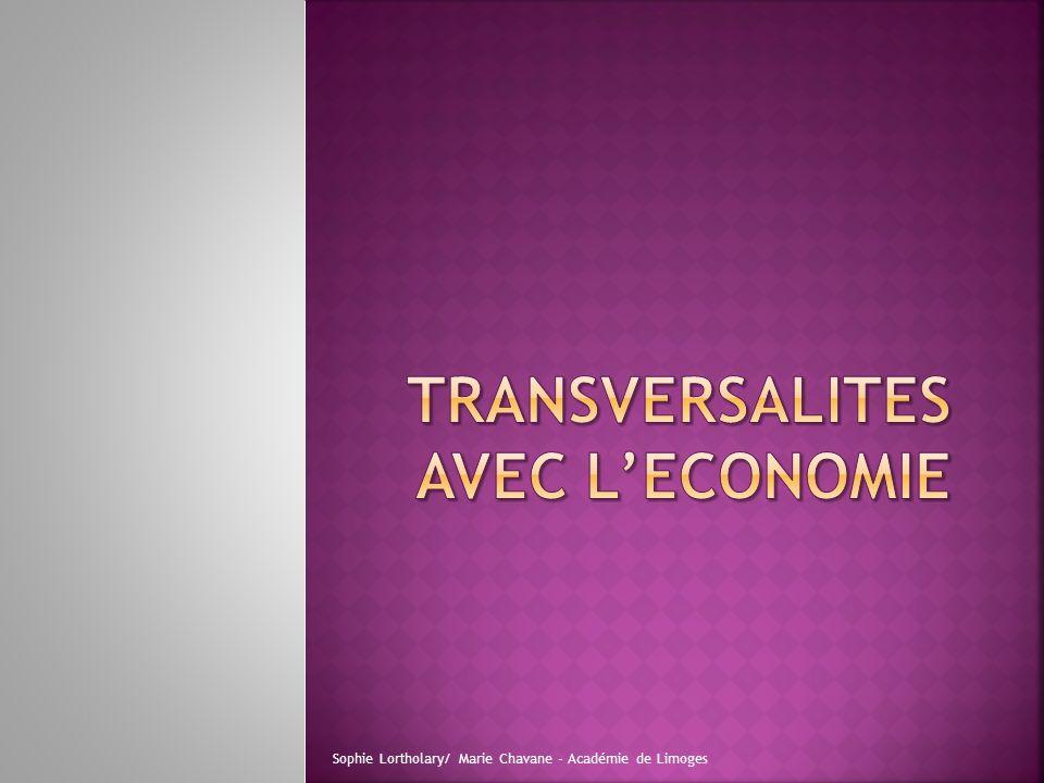 TRANSVERSALITES AVEC L'ECONOMIE