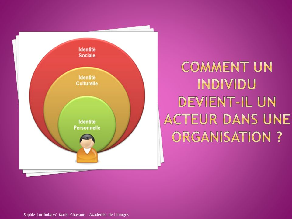 COMMENT UN INDIVIDU DEVIENT-IL UN ACTEUR DANS UNE ORGANISATION