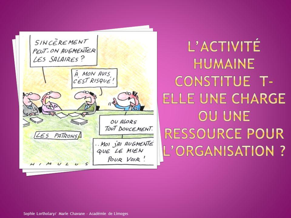 L'Activité humaine constitue t-elle une charge ou une ressource pour L'organisation
