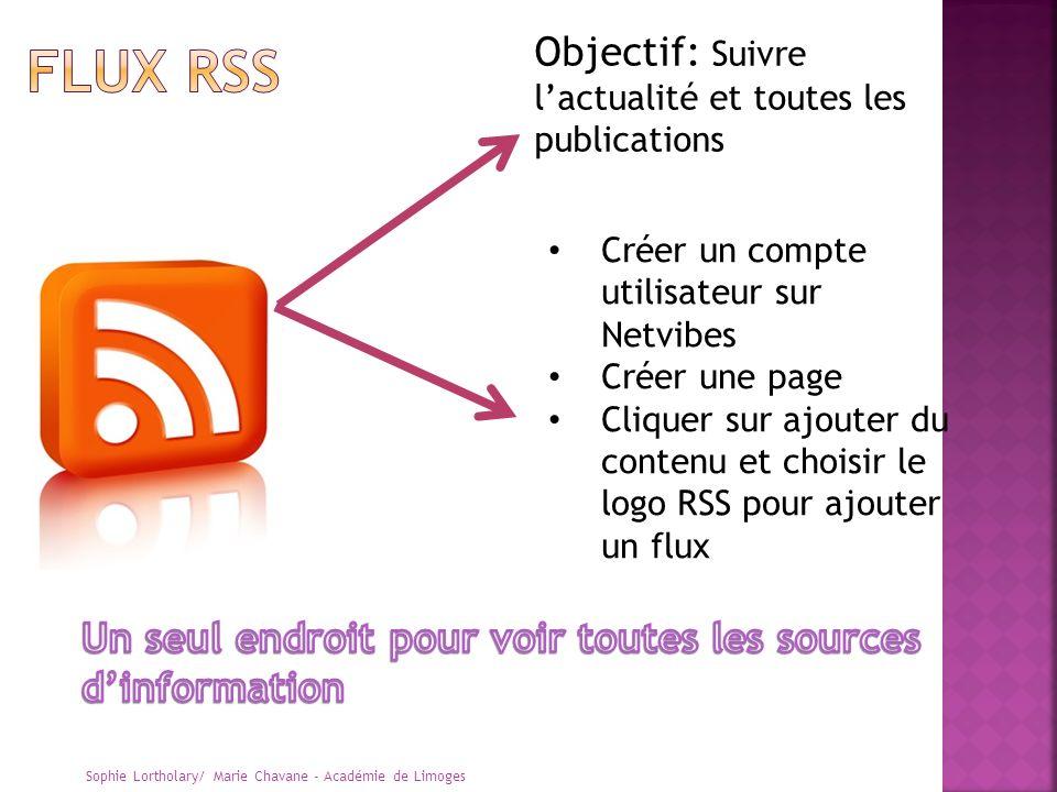 FLUX RSS Objectif: Suivre l'actualité et toutes les publications