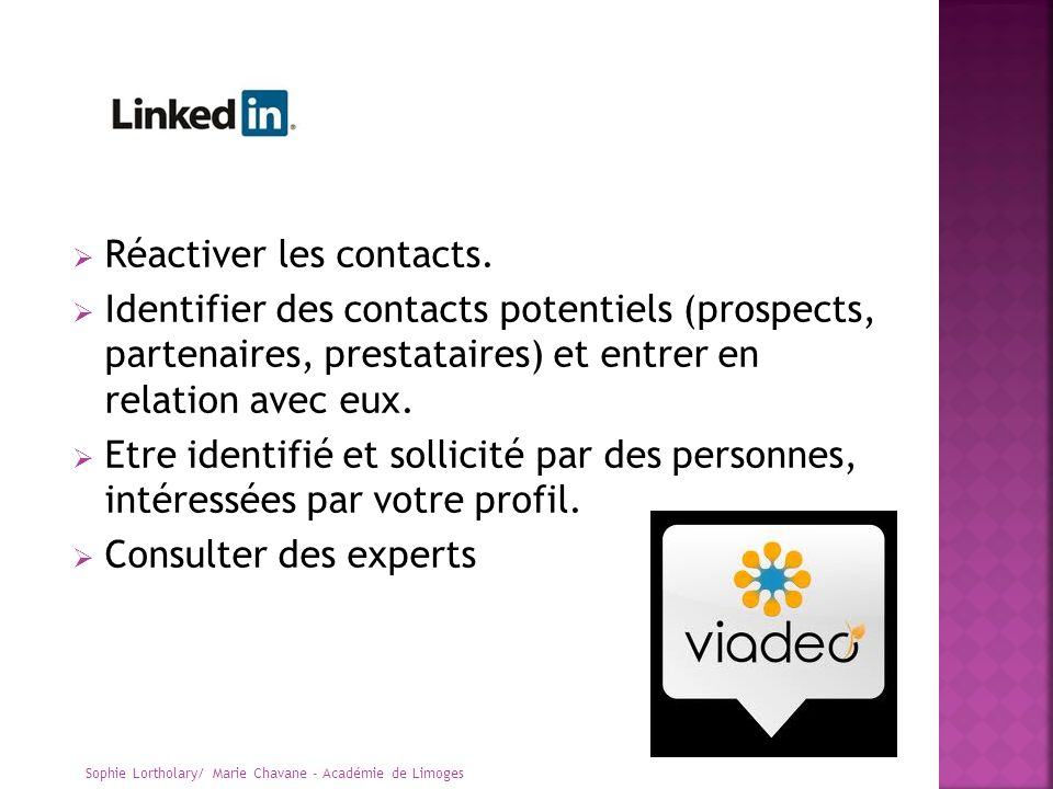 Réactiver les contacts.