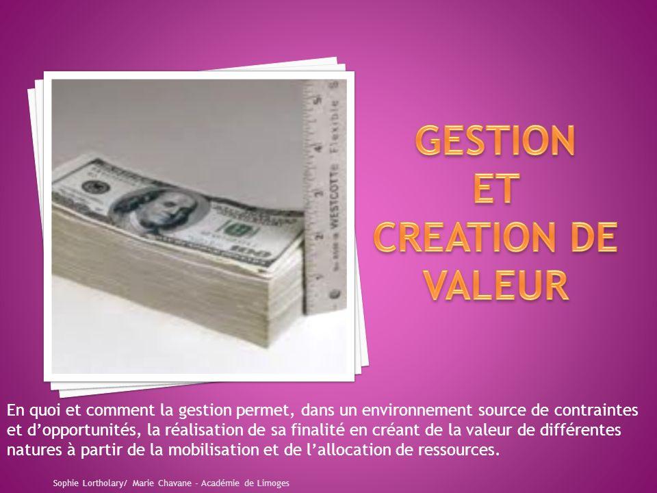 GESTION ET CREATION DE VALEUR