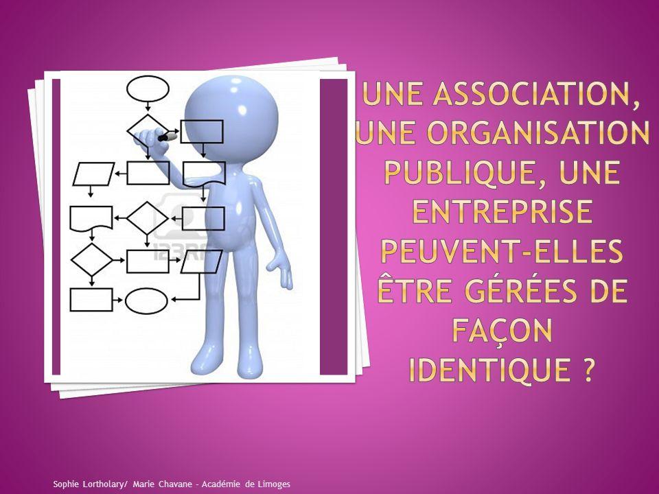 Une association, une organisation publique, une entreprise peuvent-elles être gérées de façon identique