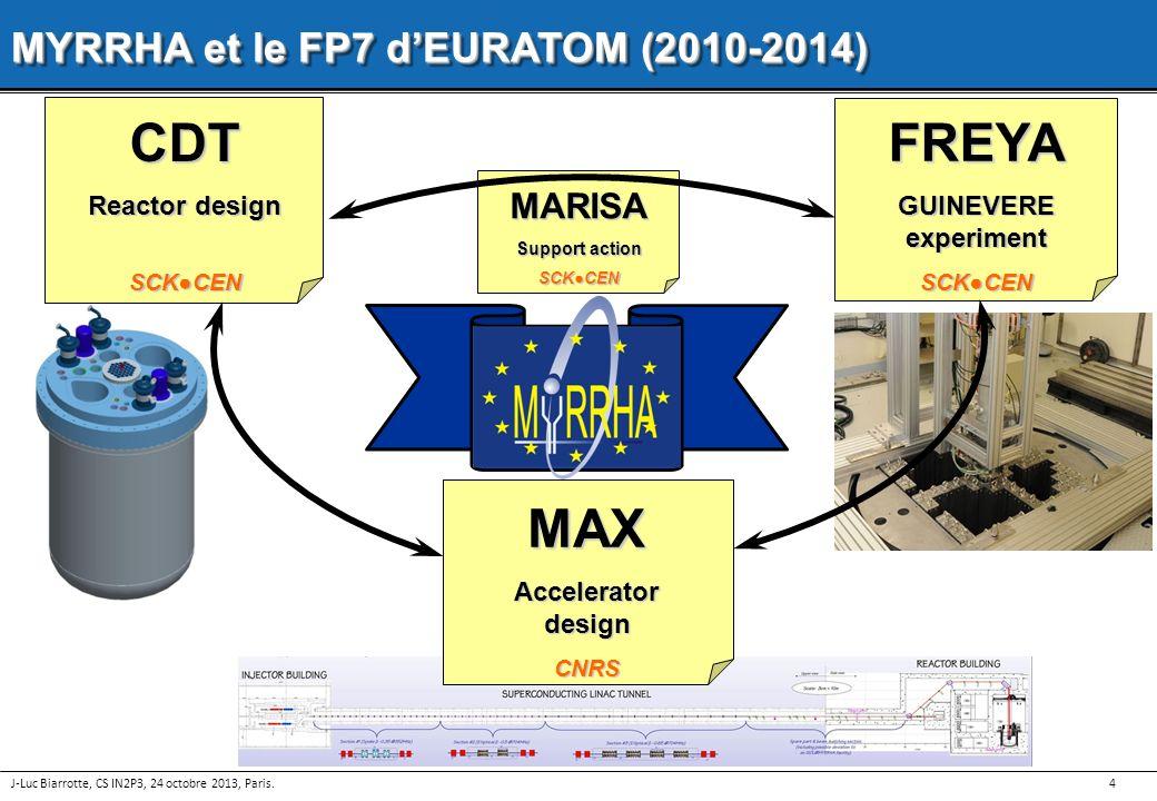 CDT FREYA MAX MYRRHA et le FP7 d'EURATOM (2010-2014) MARISA