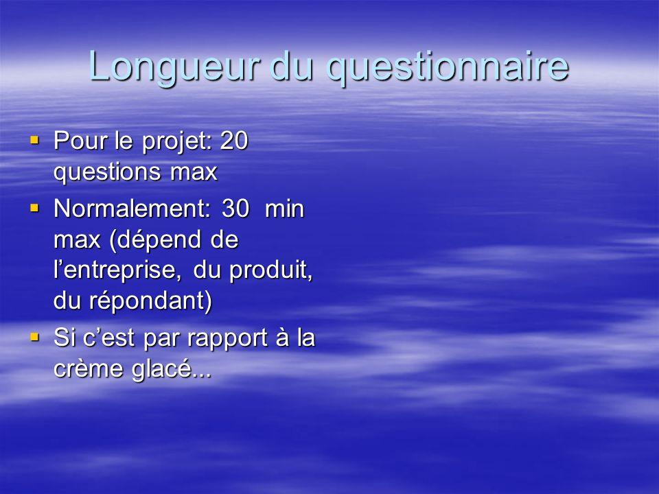 Longueur du questionnaire