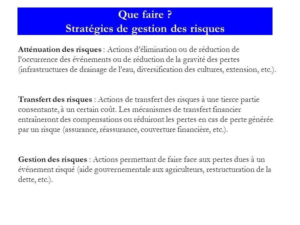 Que faire Stratégies de gestion des risques