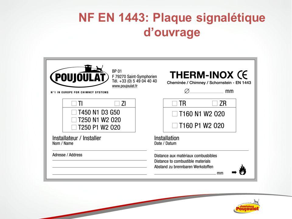NF EN 1443: Plaque signalétique d'ouvrage