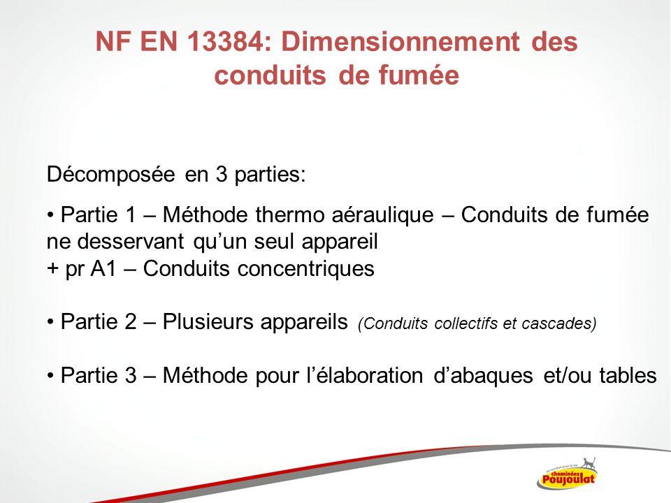 NF EN 13384: Dimensionnement des conduits de fumée