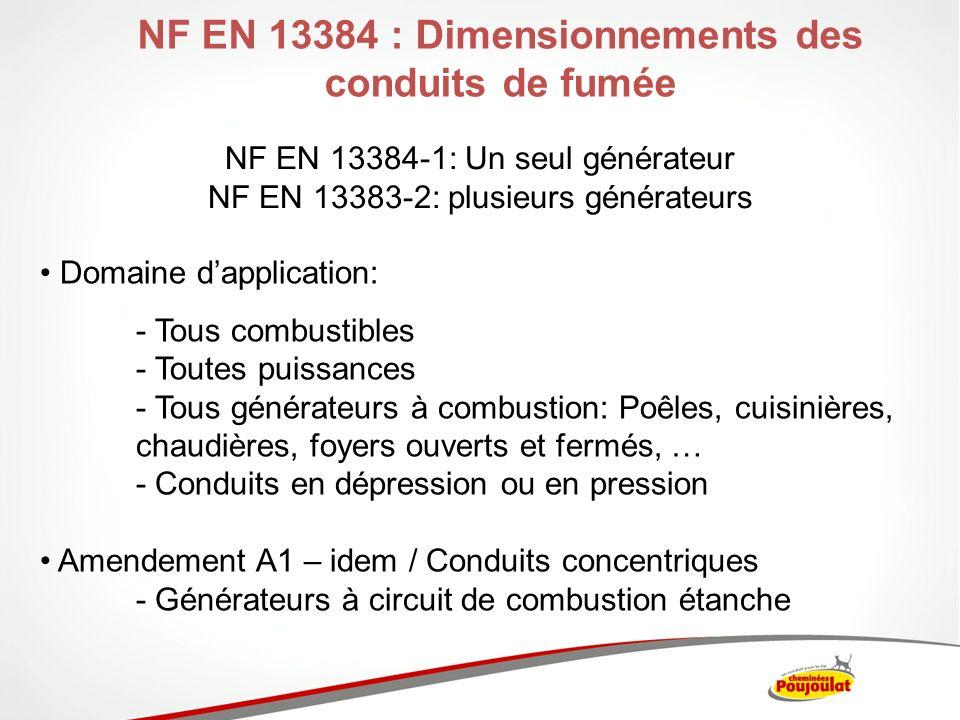 NF EN 13384 : Dimensionnements des conduits de fumée