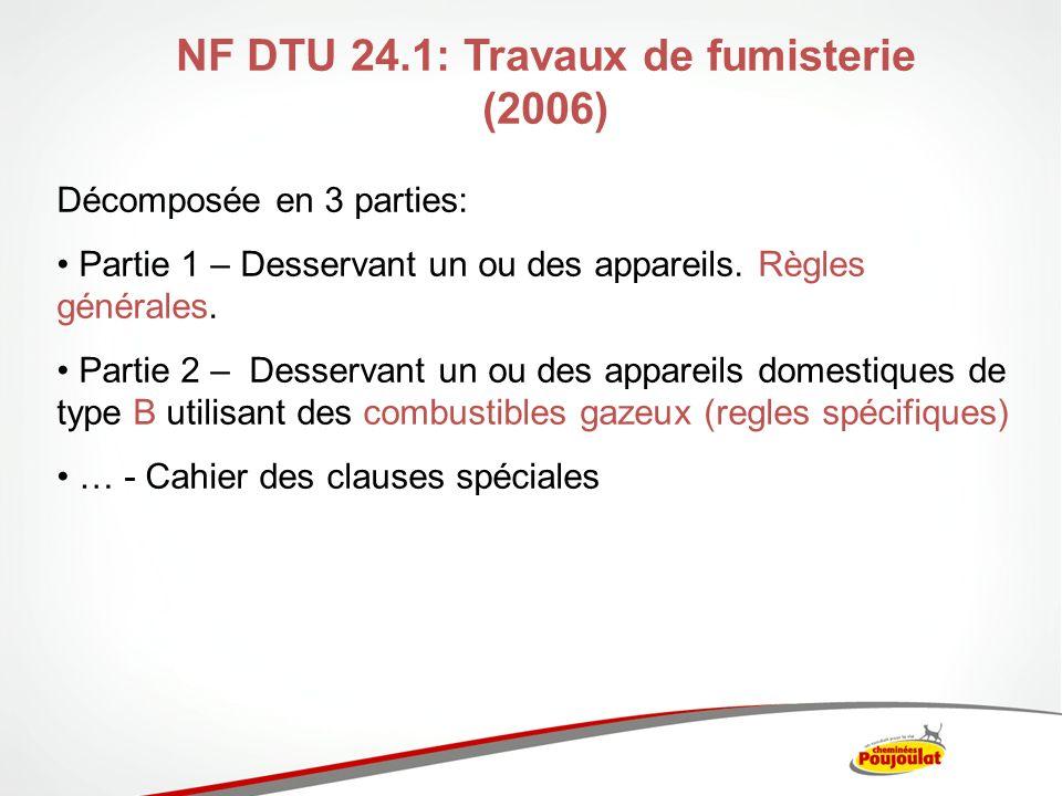 NF DTU 24.1: Travaux de fumisterie (2006)