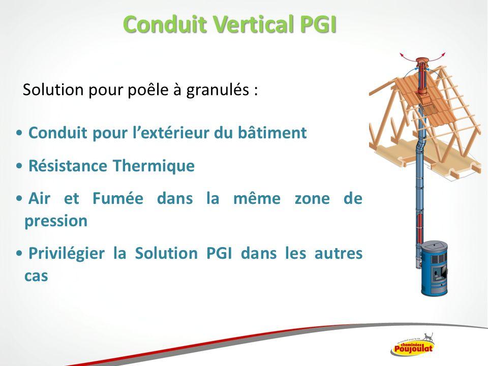Conduit Vertical PGI Solution pour poêle à granulés :