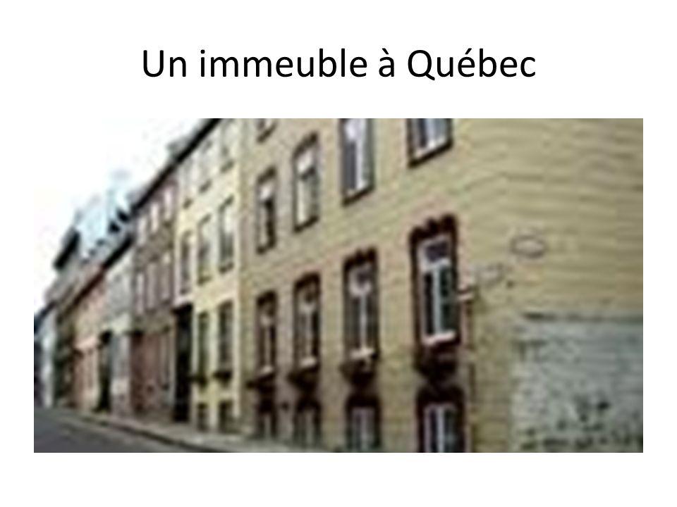 Un immeuble à Québec