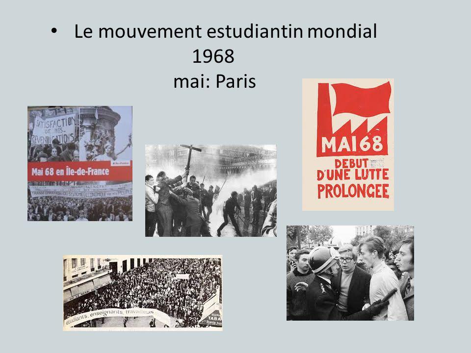 Le mouvement estudiantin mondial
