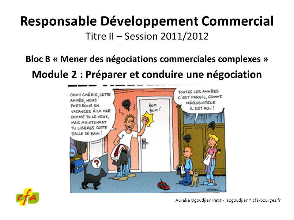 Responsable Développement Commercial Titre II – Session 2011/2012