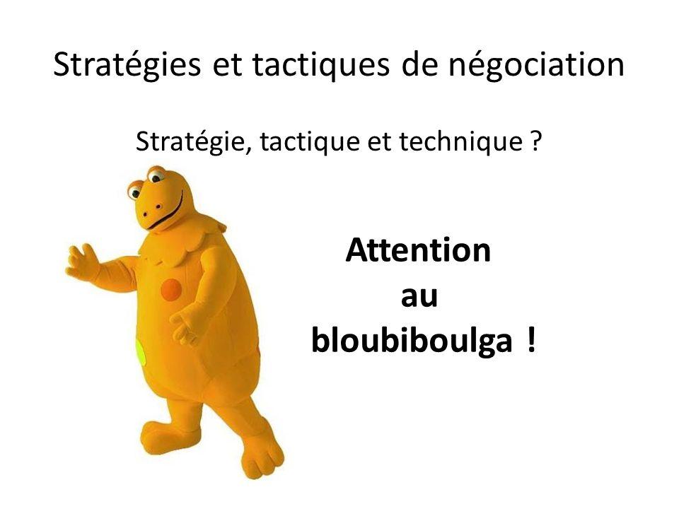 Stratégies et tactiques de négociation